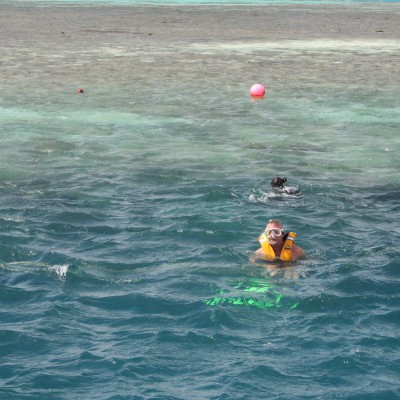 Wim: Great barrier reef, snorkelen