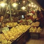 markt bij avond