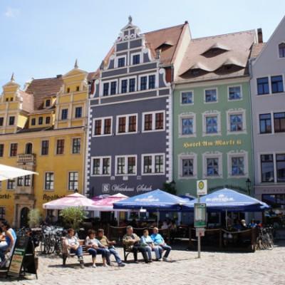 De markt in Meissen