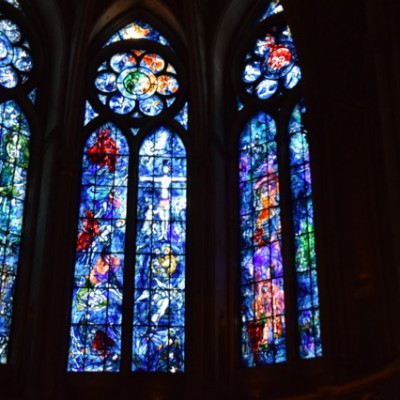 Glas in lood van Chagall