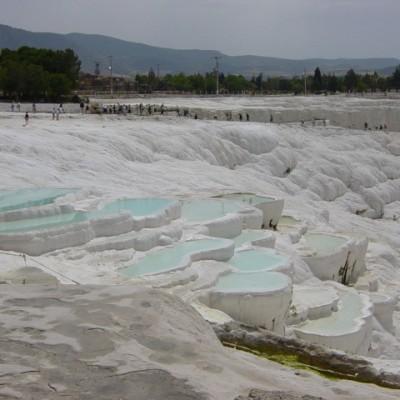 kalksteenterras in Pamukkale