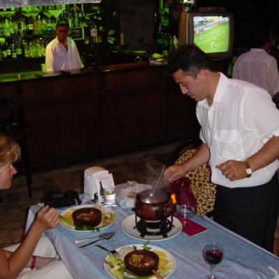 lekker eten en het EK 2004 op de achtergrond