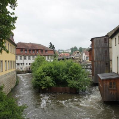 Bamberg rivier de Regnitz