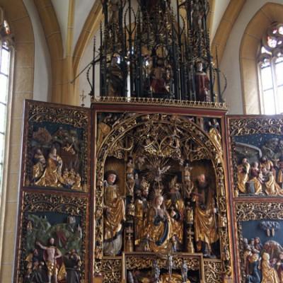 het altaar in detail