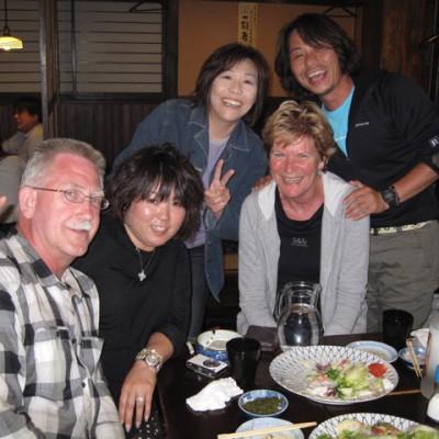 aan tafel met japanners