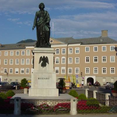 Standbeeld Mozart in Salzburg