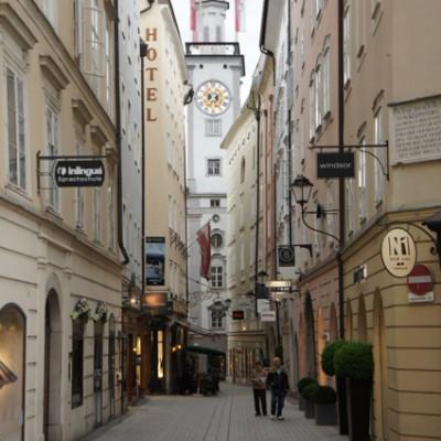 winkelstraatje Salzburg