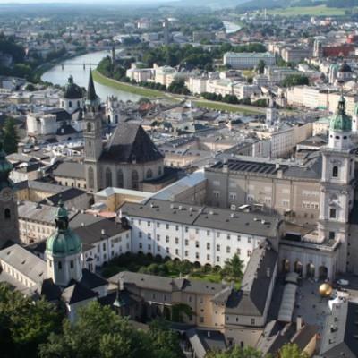 Salzburg vanuit Schloss Hohensalzburg